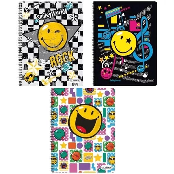 Kołozeszyt A4/70 kartkowy w linie Smiley