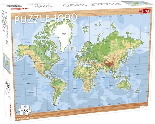 Puzzle World Map 1000