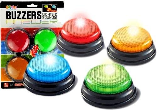 Zestaw buzzers 4 światełka światło dźwięk 4 kolory