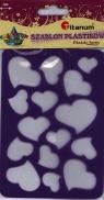 Szablon A6 plastikowy 22935 serca