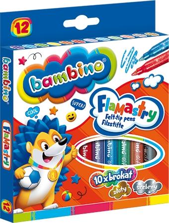 Flamastry brokatowe Bambino, 12 kolorów