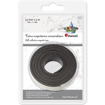 Taśma magnetyczna samoprzylepna 15mmx2m czarna