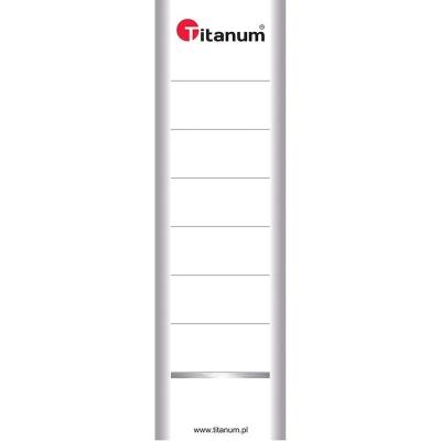 Etykiety opisowe do segregatora Titanum dwustronna - biały 70 mm