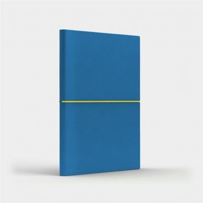 Notatnik A5 Fun M kratka niebieski/cytrynowy