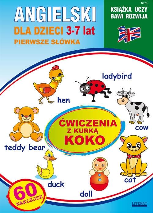 Angielski dla dzieci 23 Pierwsze słówka 3-7 lat Ćwiczenia z kurką Koko Piechocka-Empel Katarzyna