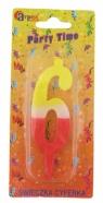 Swieczka cyferka - kolor nr 6