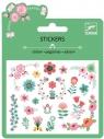 Naklejki brokatowe z kwiatowymi motywami (DJ09763)