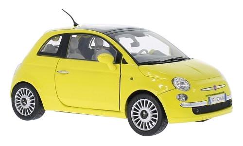 MOTORMAX Fiat 500 (yellow) (79163)