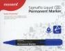 Marker permanentny Monami SigmaFlo 120 niebieski 12 sztuk