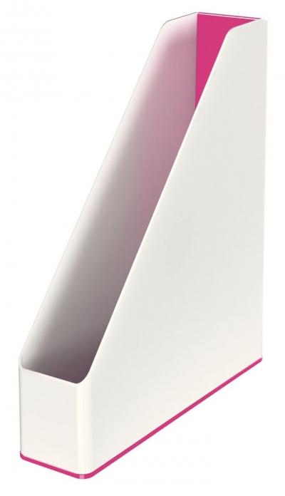 Pojemnik na dokumenty pionowy Leitz Wow Dual - różowy 7,3 x 31,8 x 27,2 cm (53621023)