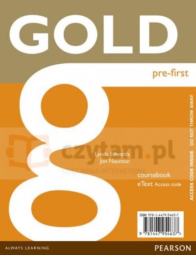 Gold Pre-Inter eText CB AccessCard Lynda Edwards, Jon Naunton