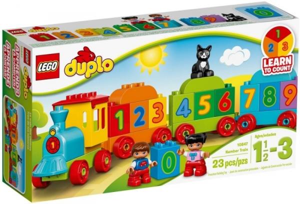 LEGO Duplo: Pociąg z cyferkami (10847)