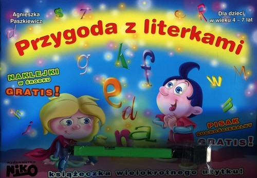 Przygoda z literkami Pisak suchościeralny + naklejki gratis Paszkiewicz Agnieszka