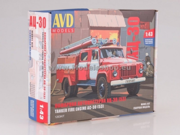 Fire Truck AC-30(53) (GAZ-53) (model kit) (KIT1263)
