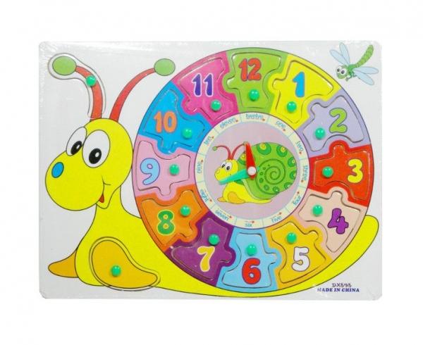 Puzzle drewniane zegar