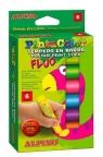 Farba plakatowa Fluo w sztyfcie 6 kolorów ALPINO