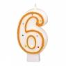 Świeczka cyferka w kropki nr 6 (550286) od 3 lat
