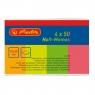 Kartki samoprzylepne 20x50mm 4 kolory po 50 sztuk