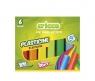 Plastelina, 6 kolorów Cricco (CR370K6)