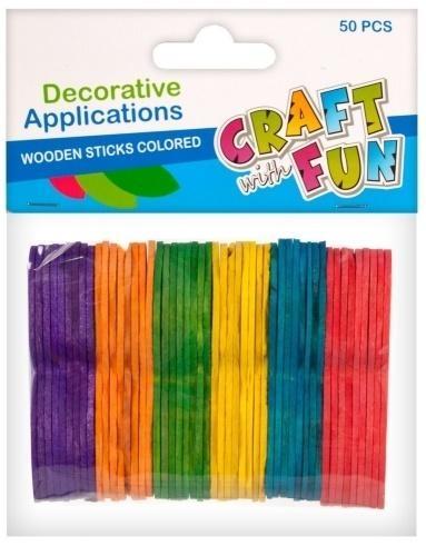 Ozdoby drewniane patyczki kolorowe (402515)