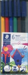 Flamastry szkolne Noris 6 kolorów