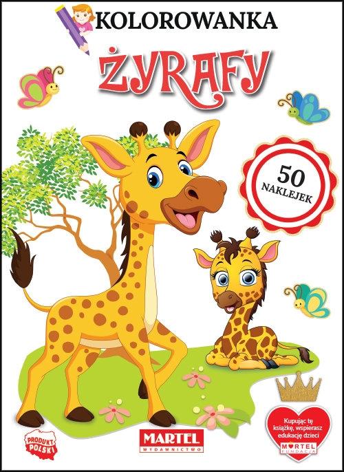 Kolorowanka. Żyrafy z naklejkami Ratajszczak Katarzyna, Gdula Adam