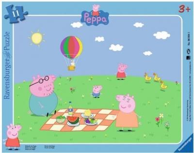 Puzzle Piknik z PEPPĄ - 12 elementów (RAP060641) RAP060641