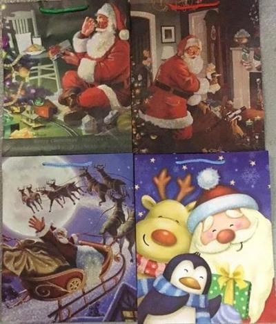 Torebka ozdobna brokat Boże Narodzenie PL-6Br mix