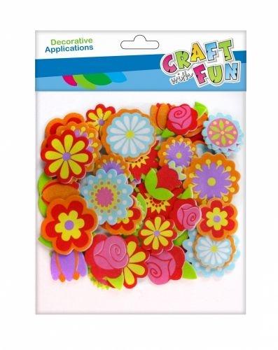 Ozdoba piankowa Euro-Trade Kwiatki samoprzylepne 48szt. (463442)