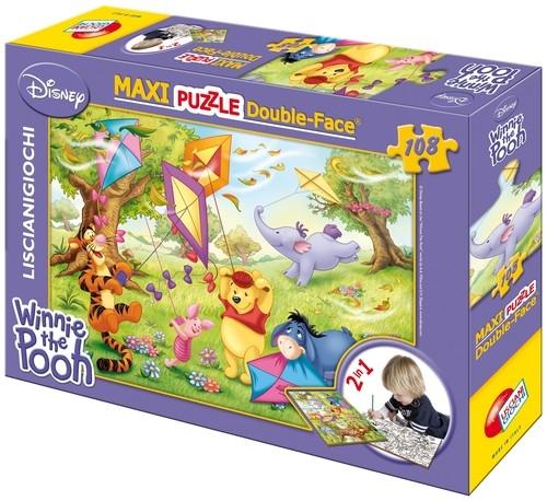 Puzzle dwustronne Maxi Kubuś Puchatek 108