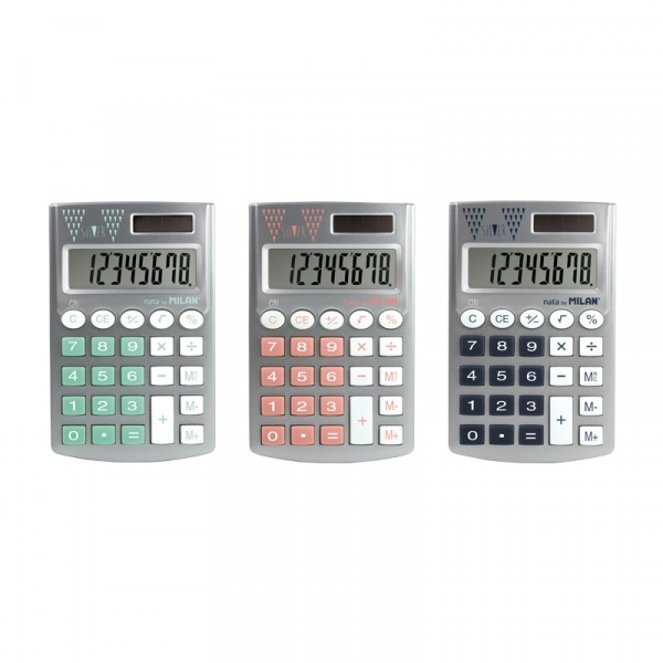 Kalkulator Kieszonkowy Silver Mix Kolorów