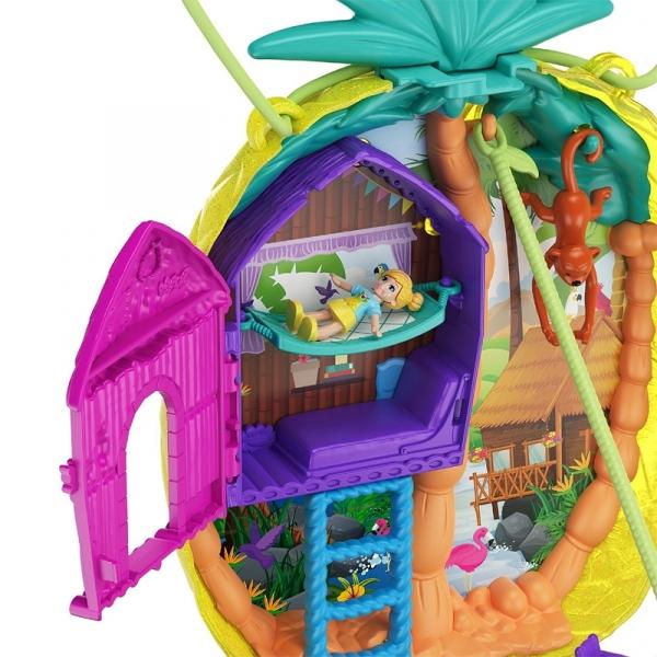 Polly Pocket: Ananasowa torebka zestaw kompaktowy (GKJ63/GKJ64)