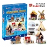 Puzzle 3D World traditional houses (C100H)