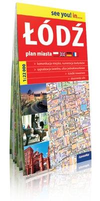 Łódź- plan miasta 1:22 000 (papier) .