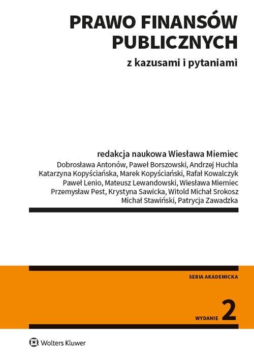 Prawo finansów publicznych z kazusami i pytaniami Wiesława Miemiec (red.)