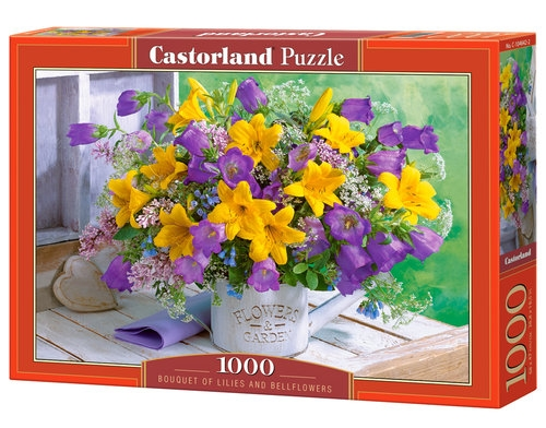Puzzle 1000 Bouquet of Lilies and Bellflowers
