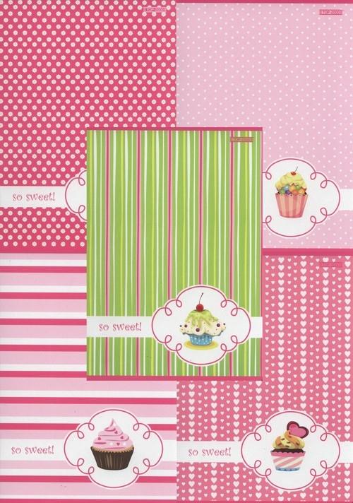 Zeszyt A5 Top-2000 w kratkę 16 kartek Cupcake 20 sztuk mix