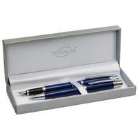 Pióro + długopis Titanum 20kbf008 niebieskie
