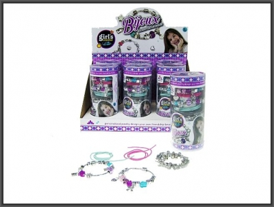 Koraliki dla dziewczynki Hipo Zestaw naszyjników i bransoletek w tubie (HWK10)