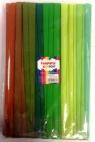 Bibuła marszczona 25x200cm mix zielony 10 rolek