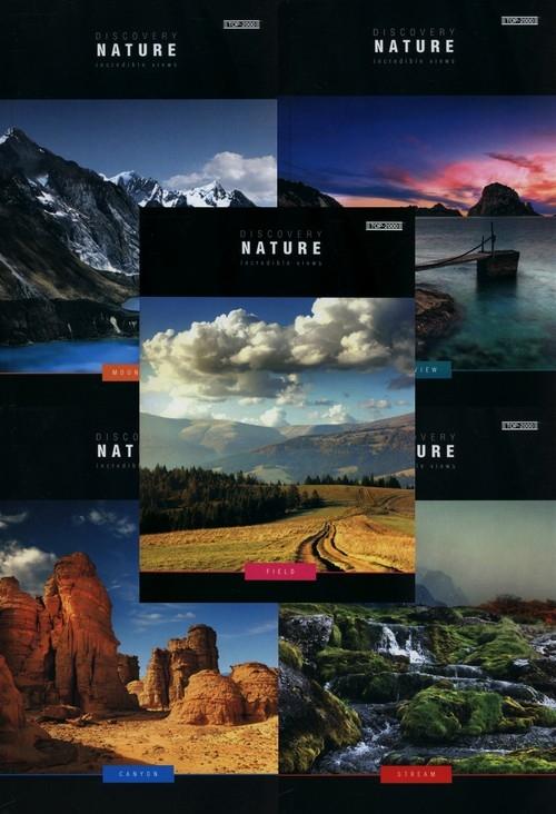 Zeszyt A5 Top-2000 gładki 96 kartek Discovery Nature 5 sztuk mix