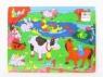 Puzzle drewniane Układanka Zwierzątka 24