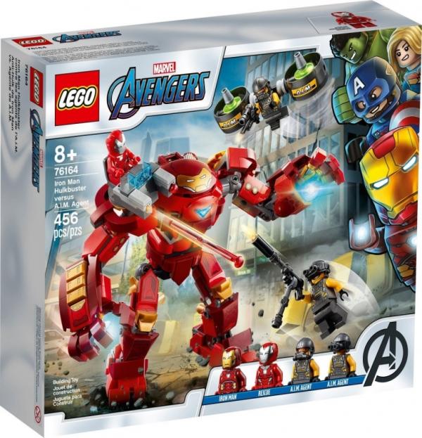 Klocki Super Heroes Hulkbuster Iron Mana kontra agenci A.I.M. (76164)