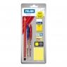 Zestaw Milan: 2 długopisy P1, ołówek grafitowy, gumka 6024, temperówka,