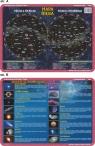 Podkładka edukacyjna.  Mapa nieba, obiekty astronomiczne