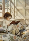 Karnet B6 z kopertą A girl reading