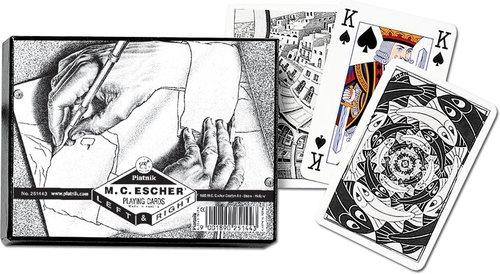 Karty do gry Piatnik 2 talie Escher W górę i w dół