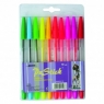 Długopisy Beifa fluo 10 kolorów etui KPLAA943-10