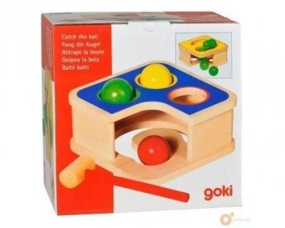 Drewniana przybijanka z piłkami i młotkiem (GOKI-58864)