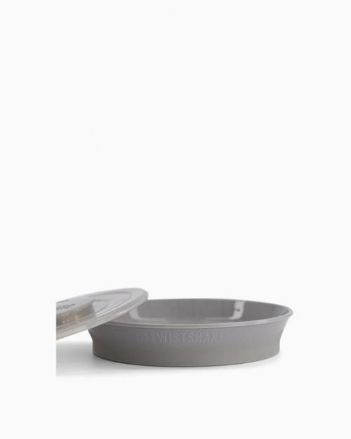 Twistshake Talerz z Pokrywką 6m+ Pastelowy Szary